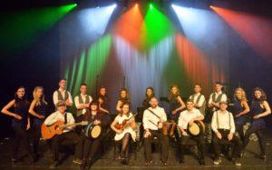 die danceperados of ireland mit Instrumenten